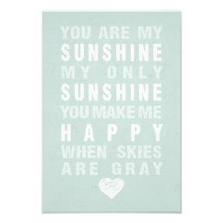 You Are My Sunshine Photo Print