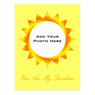 You Are My Sunshine Photo Template Postcard