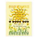 You are my sunshine... postcard (<em>$0.95</em>)