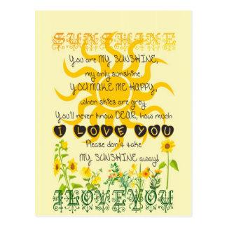 You are my sunshine... postcard
