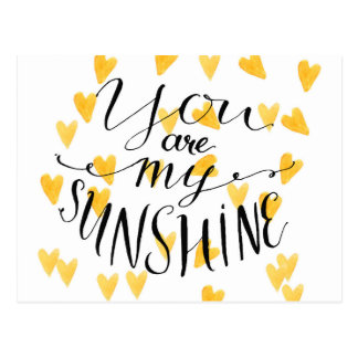 You Are My Sunshine Postcard
