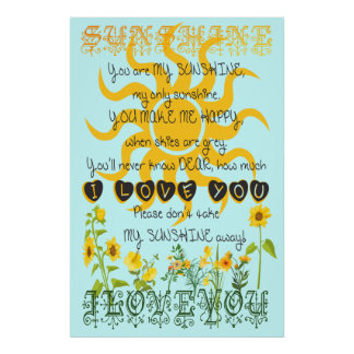 You Are My Sunshine Wall Art you are my sunshine art & framed artwork | zazzle