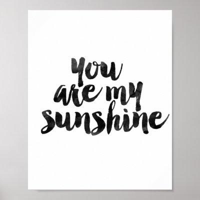 Merveilleux You Are My Sunshine Word Art Vintage Background Poster | Zazzle.com
