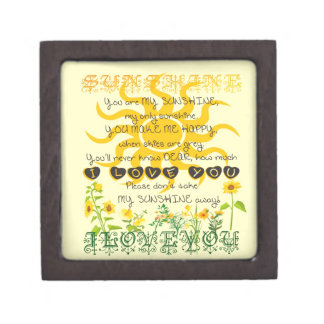 You are my sunshine. premium trinket boxes