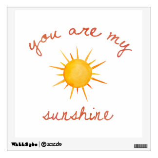 You Are My Sunshine Quote Art Wall Sticker