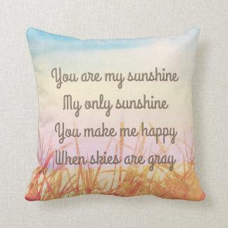 You are my sunshine, romantic cushion