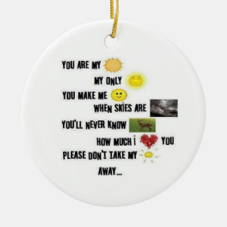 You Are My Sunshine - Round Ornament