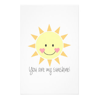 You Are My Sunshine! Stationery Paper