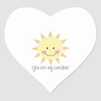 You Are My Sunshine! Heart Sticker