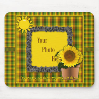 You Are My Sunshine Sunflower Mouse Pad