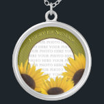 "You are my Sunshine Sunflower Necklace<br><div class=""desc"">Place your sunshine&#39;s photo in the center of this necklace surrounded by sunflowers... text reads,  You are my Sunshine)</div>"