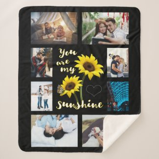 You are My Sunshine Photo Sherpa Blanket
