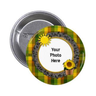 You Are My Sunshine Sunflower Pinback Button