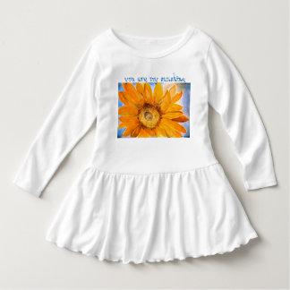 You are My Sunshine Sunflower Watercolor Art Dress