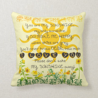 You are my Sunshine Throw Pillow