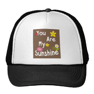 """""""You are my Sunshine"""" Typography - Brown Trucker Hat"""