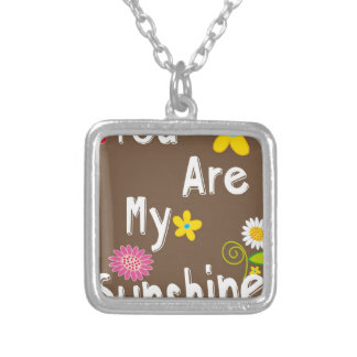 You are my Sunshine Typography - Brown Custom Jewelry