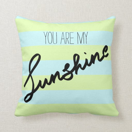 Knitting Pattern For You Are My Sunshine Blanket : You Are My Sunshine Typography Stripes Pattern Throw ...