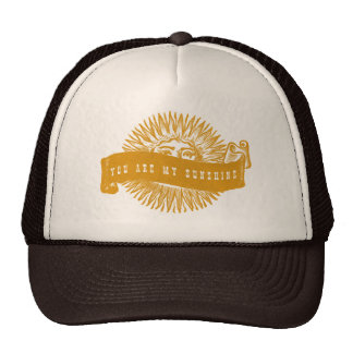 You are my Sunshine Vintage Banner Art Trucker Hat