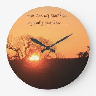 You are my sunshine, wall clock