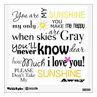 You are my Sunshine Wall Sticker