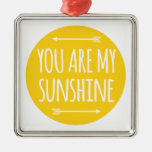 You are my sunshine, word art, text design christmas tree ornaments