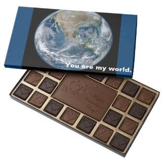 you are my world romantic valentine chocolate gift