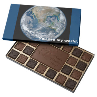 you are my world romantic valentine chocolate gift 45 piece assorted chocolate box