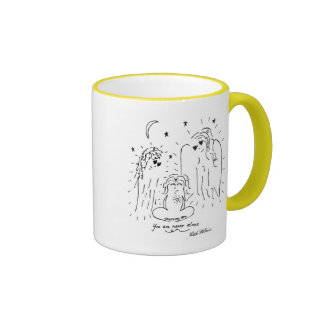 You are Never Alone Ringer Coffee Mug
