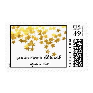 you are never to old to wish upon a star postage