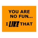 You Are No Fun... Postcard