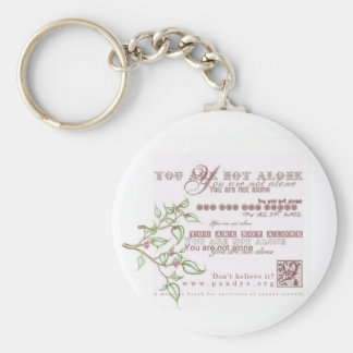 You are not alone basic round button keychain