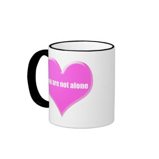 You are not alone. ringer coffee mug