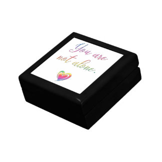 You Are Not Alone/Safety Pin Keepsake Box