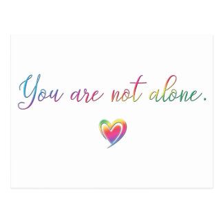 You Are Not Alone/Safety Pin Postcard