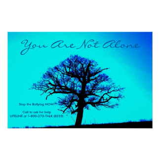 You are not Alone/Stop Bullying NOW Poster