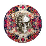 You are not here floral day of the dead skull dart boards