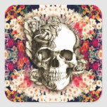You are not here floral day of the dead skull stickers