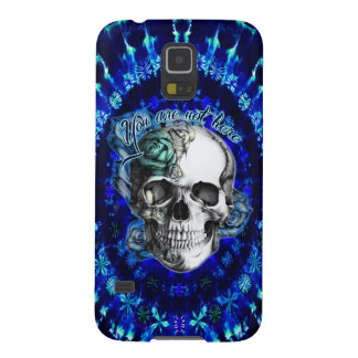 You are not here rose skull on blue tye die. galaxy s5 covers