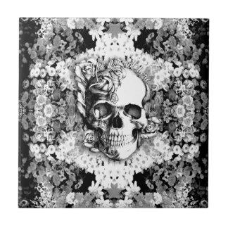 You are not here skull ceramic tile