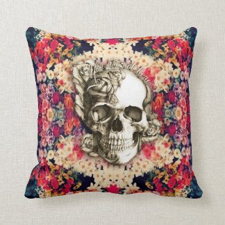 You are not here sugar skull throw pillow