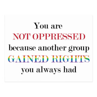 You Are Not Oppressed Postcard