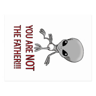 YOU ARE NOT THE FATHER!!!!! POSTCARD