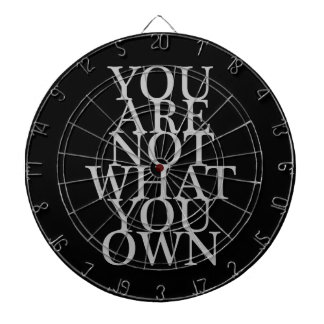 You Are Not What You Own Dartboard