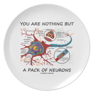 You Are Nothing But A Pack Of Neurons (Synapse) Dinner Plate