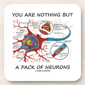 You Are Nothing But A Pack Of Neurons (Synapse) Drink Coaster