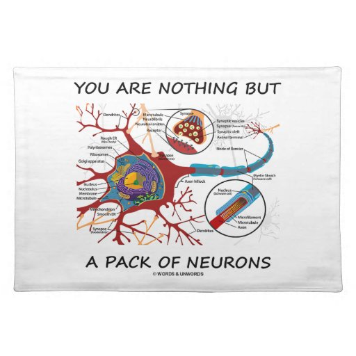 You Are Nothing But A Pack Of Neurons (Synapse) Place Mat