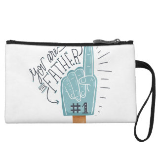 You are Number One Father cheering finger Wristlet Wallet