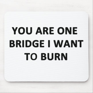 You Are One Bridge I Want to Burn Mouse Pad