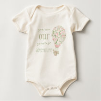 You are our Greatest Adventure in Pink Baby Bodysuit